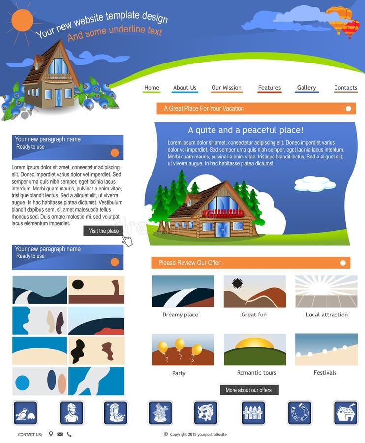 Websiteschablone 49 lizenzfreie abbildung