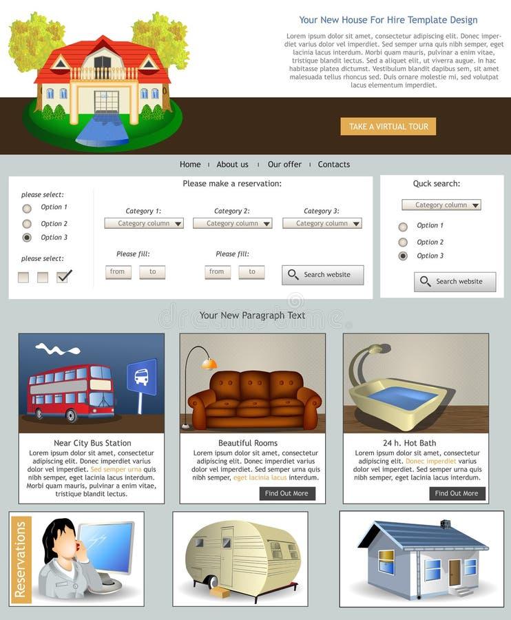 Websiteschablone 70 lizenzfreie abbildung