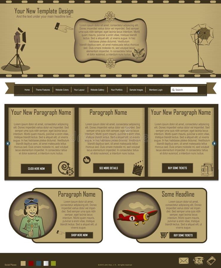 Websiteschablone 61 lizenzfreie abbildung