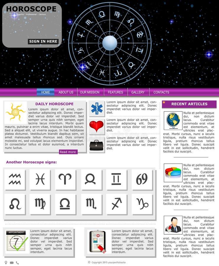 Websiteschablone 79 stock abbildung