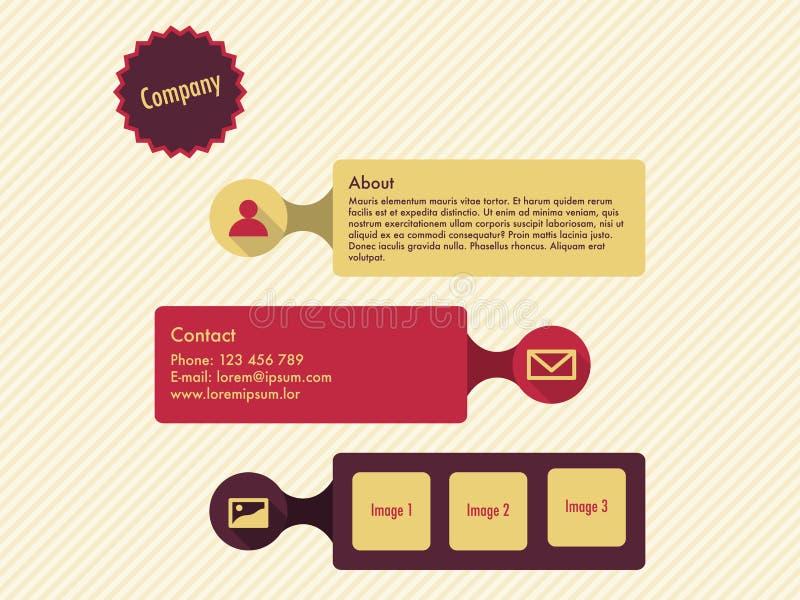 Websiteschablone im flachen Design lizenzfreie abbildung