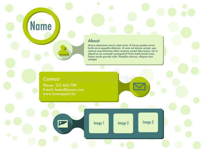 Websiteschablone im flachen Design stock abbildung