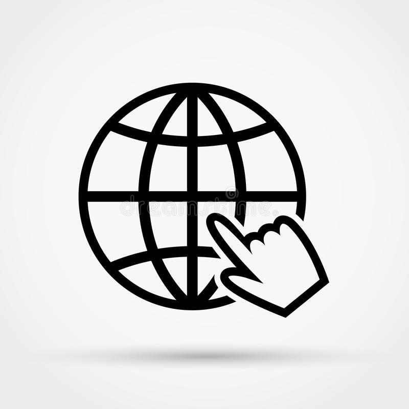 Websitevektorsymbol Plan design royaltyfri illustrationer