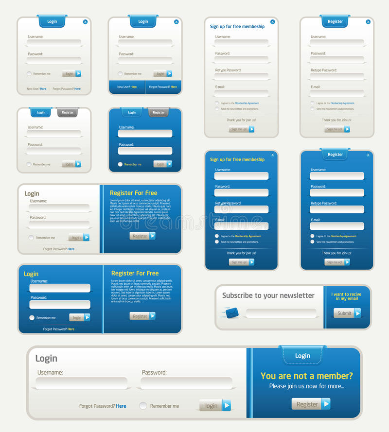 Free Webste Forms Royalty Free Stock Photo - 14291315