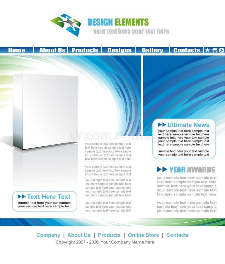 Download Webstite Temlpate stock vector. Image of creative, online - 10461159