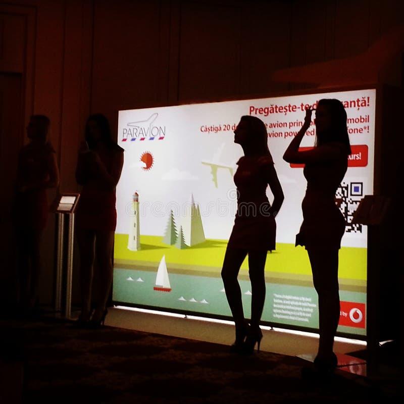 Webstock konferens Bucharest 2013 royaltyfri foto