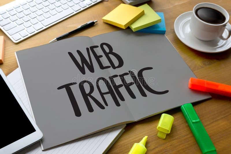 WEBverkeer (zaken, technologie, Internet en voorzien van een netwerkconce stock afbeeldingen