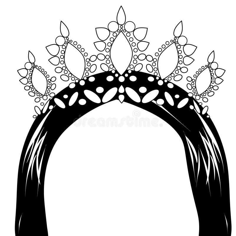Webvrouw met kroon vector illustratie