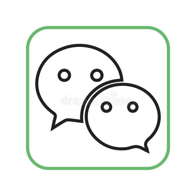 Download Wechat vektor illustrationer. Illustration av meddelande - 78728629