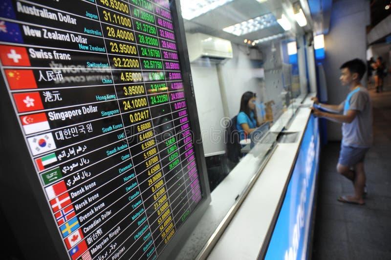 Wechselkurs-Brett stockfoto