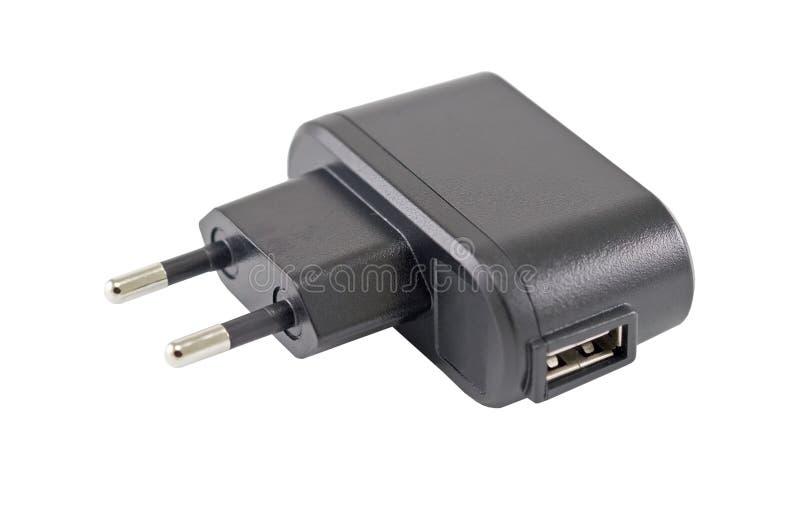 Wechselstrom-Adapter für die Aufladung des Telefons lizenzfreie stockfotos