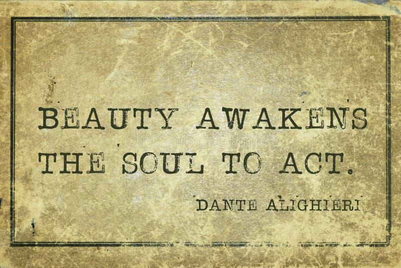 Weckt Seele Dante stockfotos