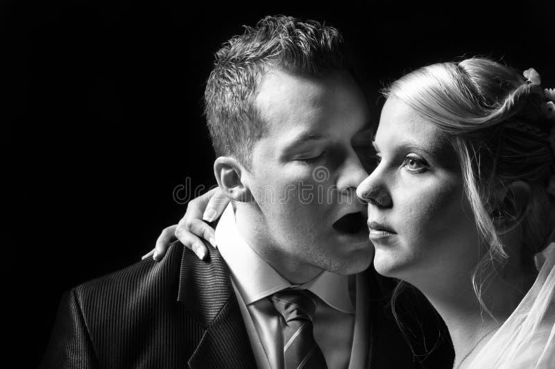 Wed eben Paare stockfotografie