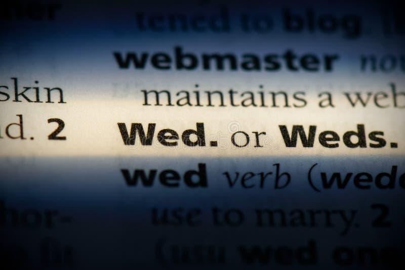 Wed stock fotografie