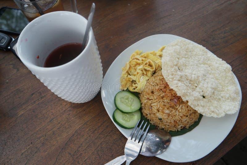 Wedang Uwuh en Fried Rice royalty-vrije stock afbeeldingen