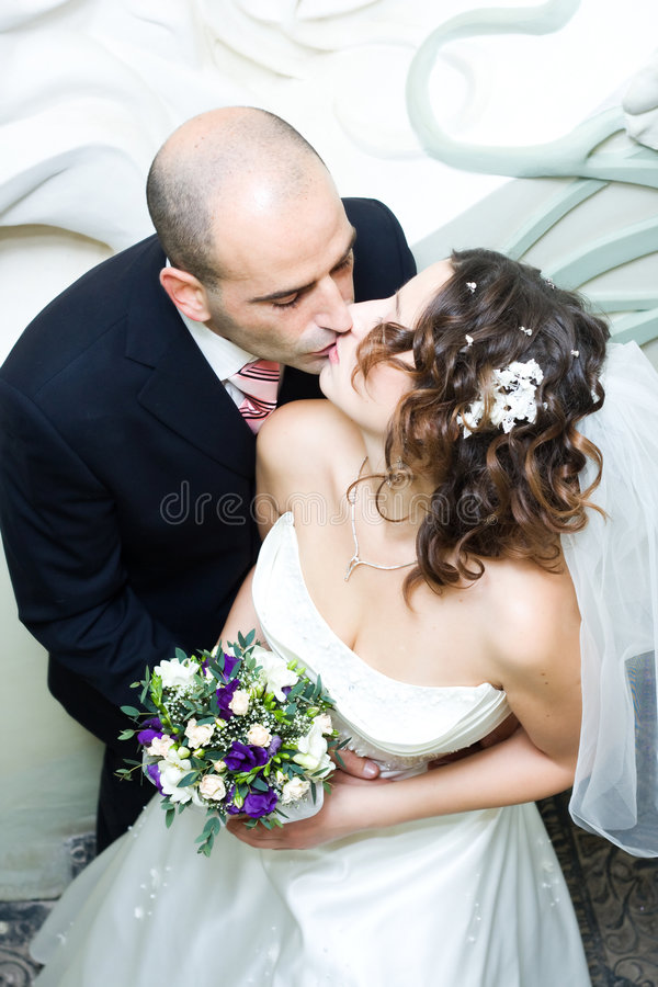 Download Wedded stock photo. Image of beauty, kiss, flowers, people - 4019428