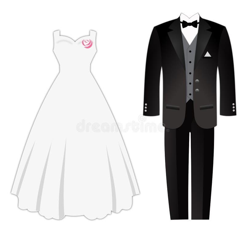 weddig платья бесплатная иллюстрация