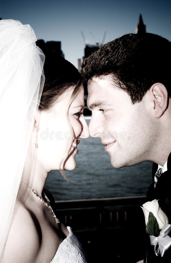 Wedding à New York City image libre de droits