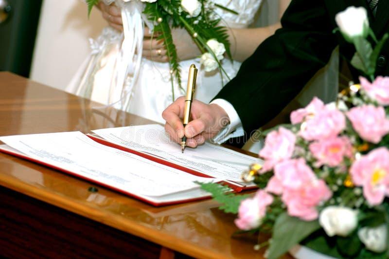 Wedding гарантии стоковая фотография rf