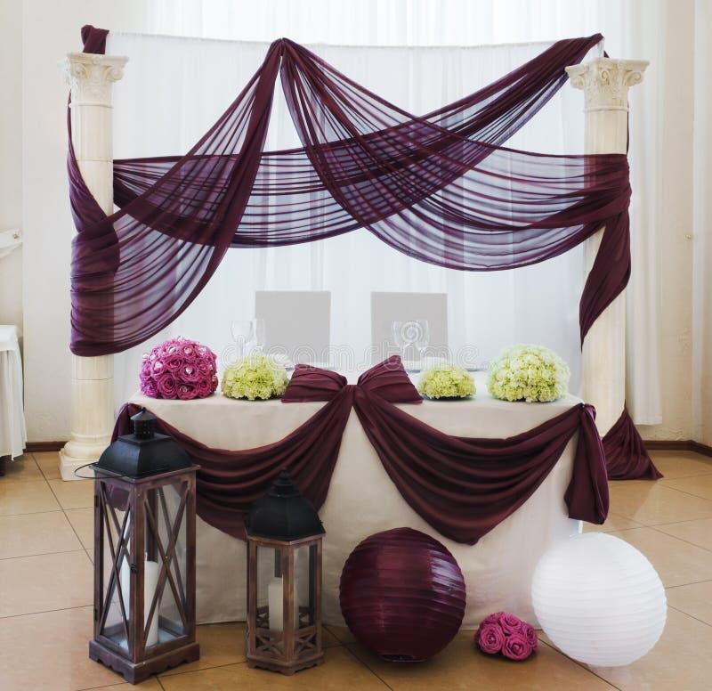 Wedding головная таблица стоковое фото rf