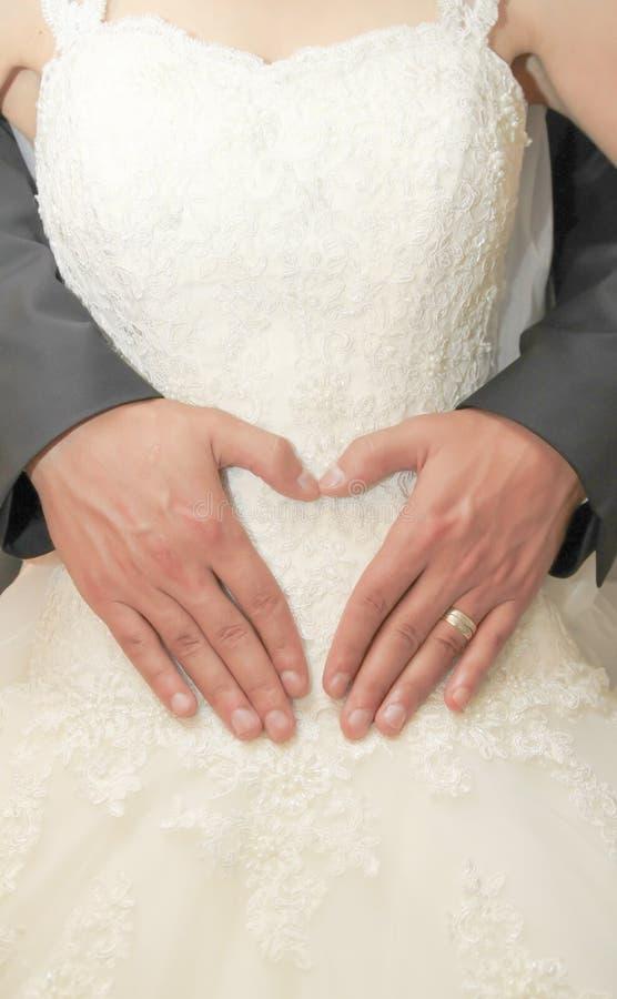 Wedding: жених и невеста стоковое изображение