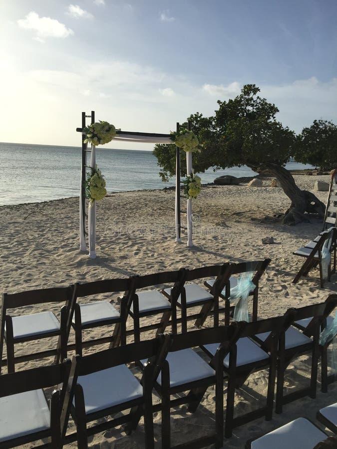 Wedding на пляже стоковая фотография rf