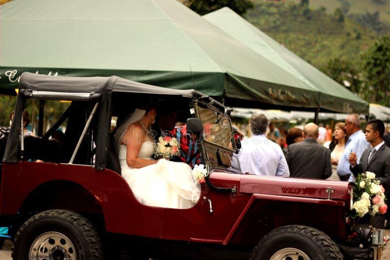Wedding на Jardin, Antioquia стоковые изображения