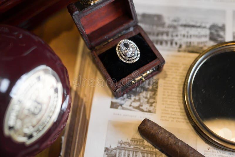 Wedding ретро кольцо стоковая фотография