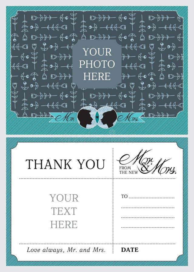 Wedding спасибо примечания иллюстрация вектора