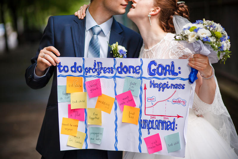 Wedding для того чтобы сделать список стоковая фотография
