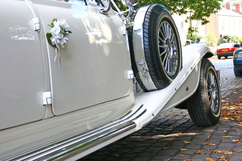 Wedding. Very special day for most of us. Wedding day. Wedding car, limo stock photo