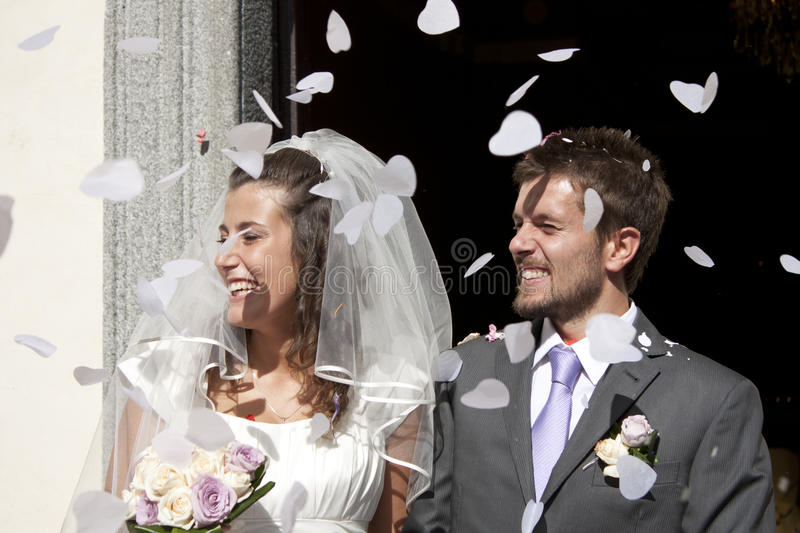 Wedding. Pictures, the couple just married royalty free stock photos