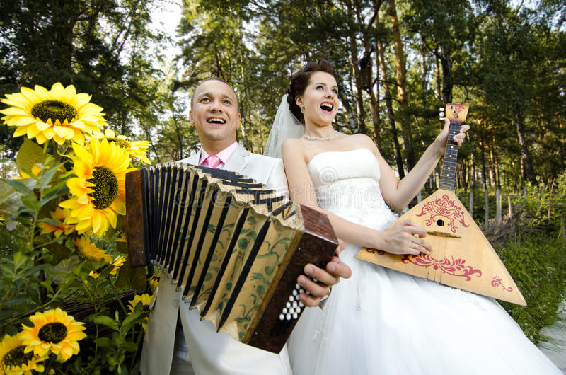 Download Wedding stock image. Image of female, bride, accordion - 25905387