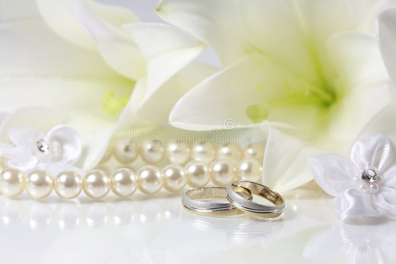 Wedding. Still life in white royalty free stock photo