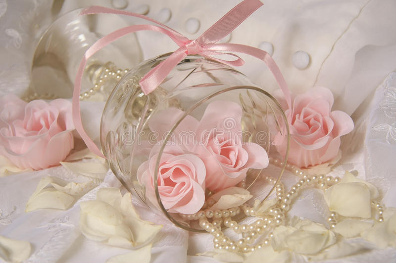 Wedding accessories. Pearls flowers pearls stock photography