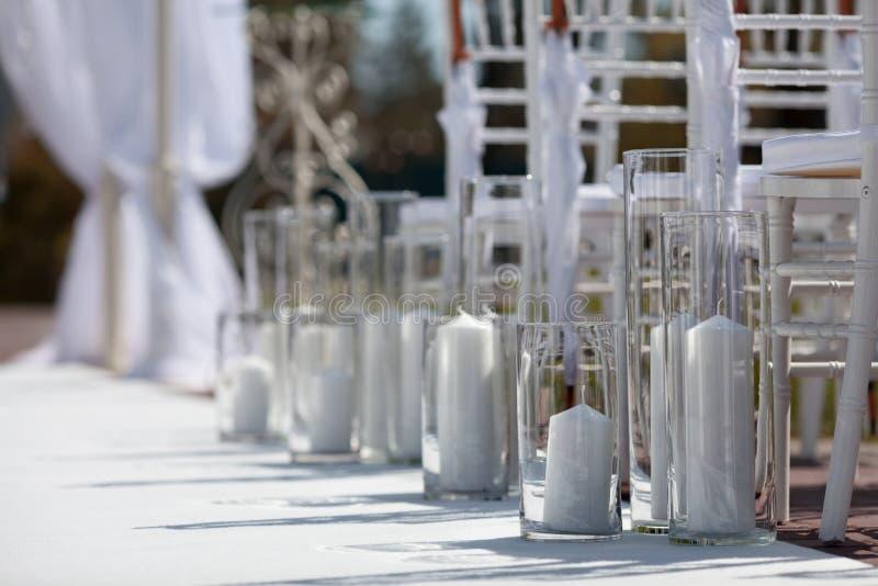 Wedding Aisle for Wedding Ceremony. Wedding Aisle for an Outdoor Wedding Ceremony stock images