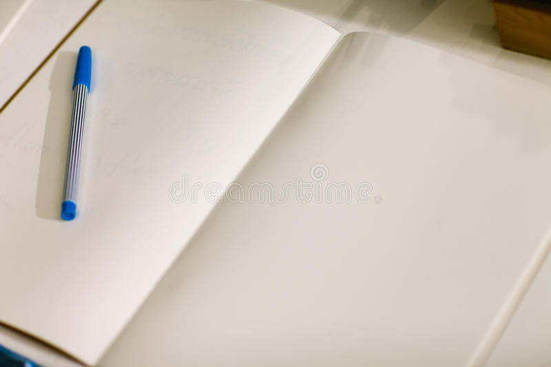 Wedding album, blank page, guest list, to do list.still life photography concept by memory and notebook.Notepad book.Notebook and royalty free stock image