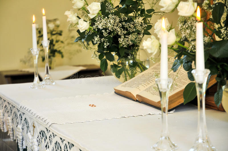 Indoor Wedding Venue Royalty Free Stock Photo: Wedding Altar Stock Image. Image Of Lace, Indoor