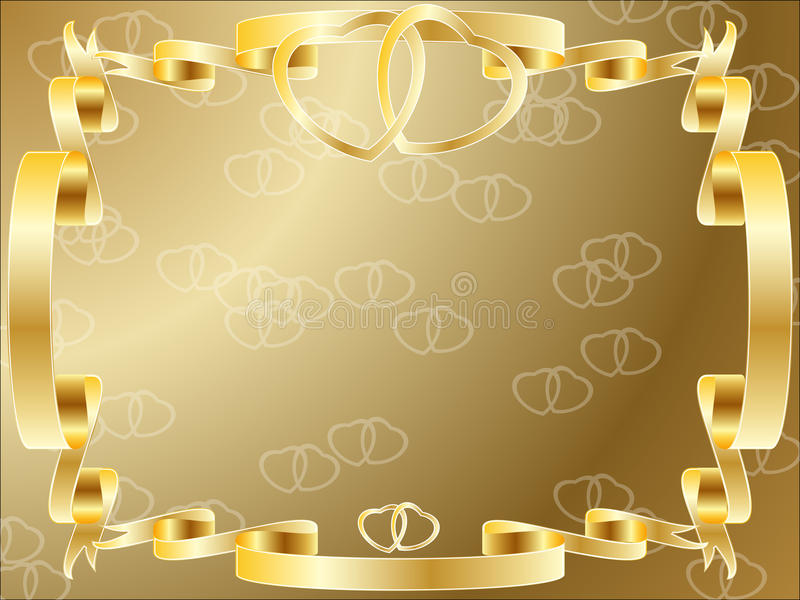 Wedding anniversary border invitation stock illustration