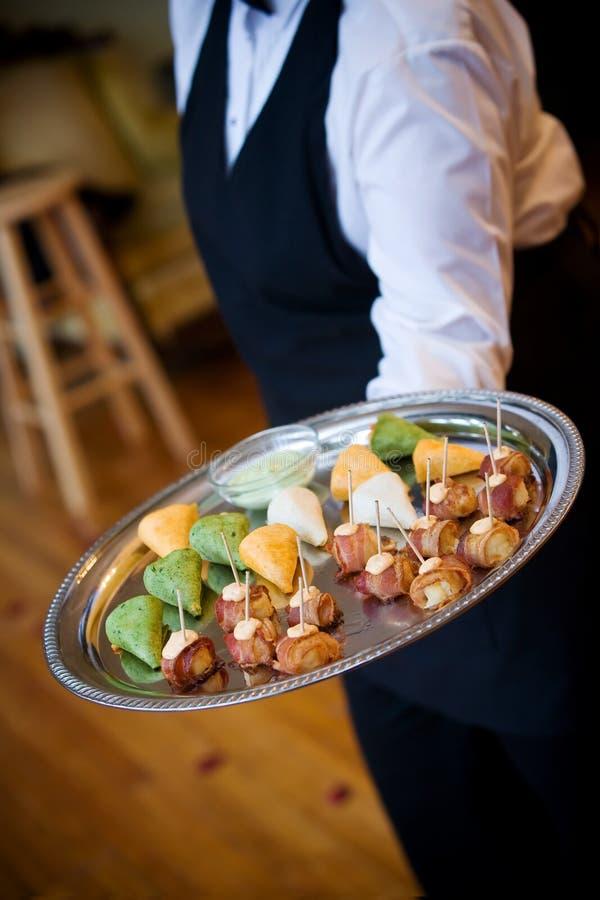 Wedding appetizers stock image