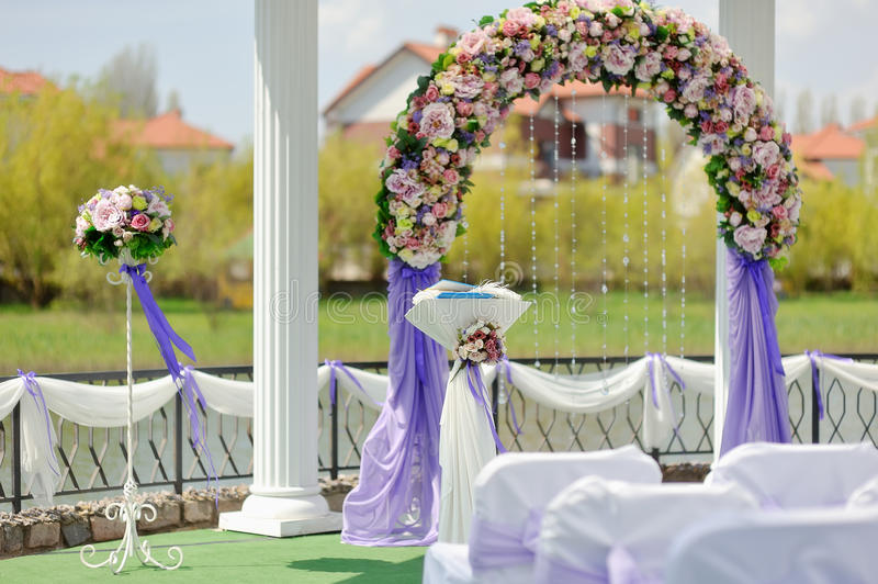 wedding ideas in blue wedding arch stock photo image of nature ceremony 28210