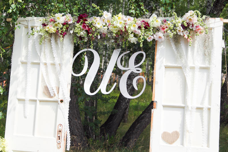 Download Wedding arch stock image. Image of decorations, purple - 34466479