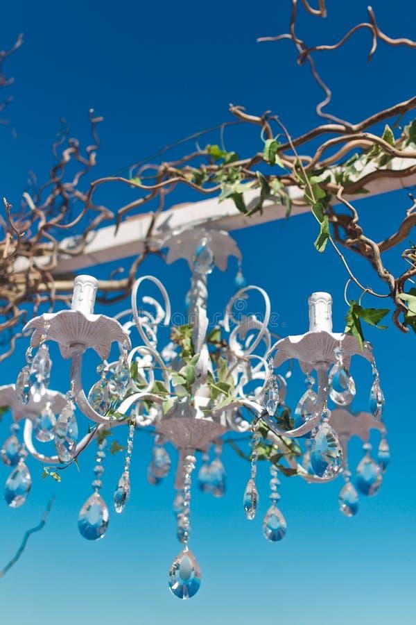 Wedding arch. Beautiful arrangement of flowers decorating a wedding ceremony arch closeup stock photo