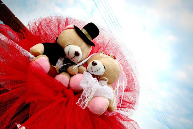 Wedding Bären lizenzfreie stockbilder
