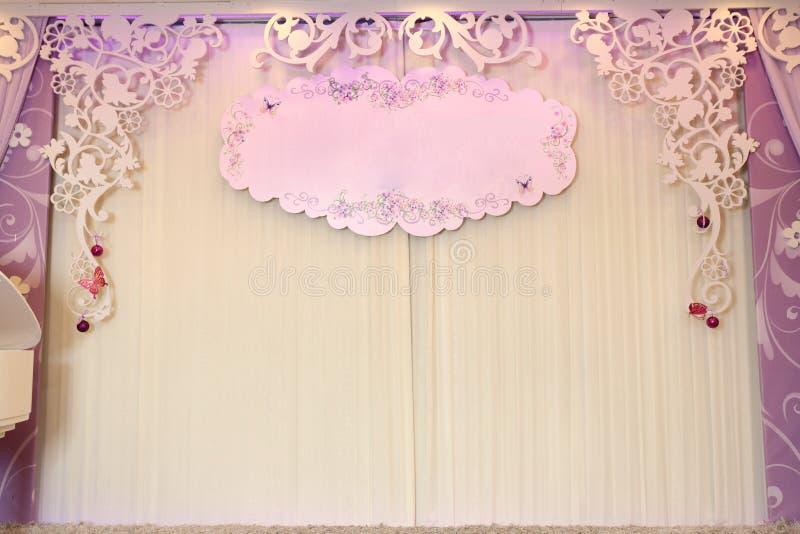 Wedding Backdrop. Wedding party backdrop or background stock photos