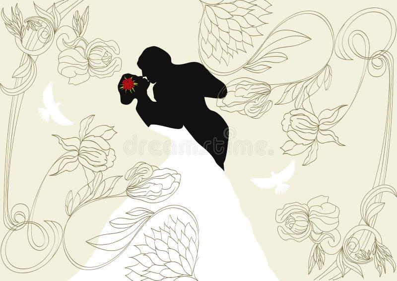 Download Wedding background stock vector. Image of dress, hands - 14354667