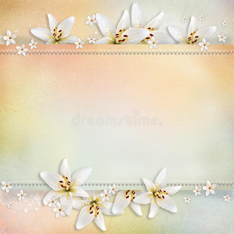 Wedding background stock illustration