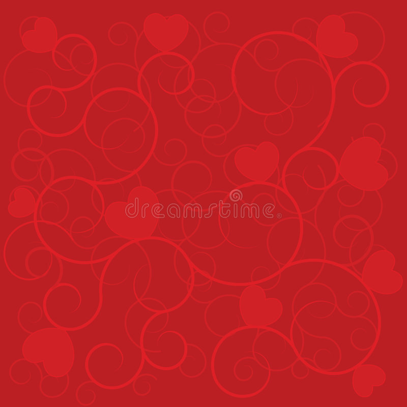 Wedding background red hearts royalty free stock images