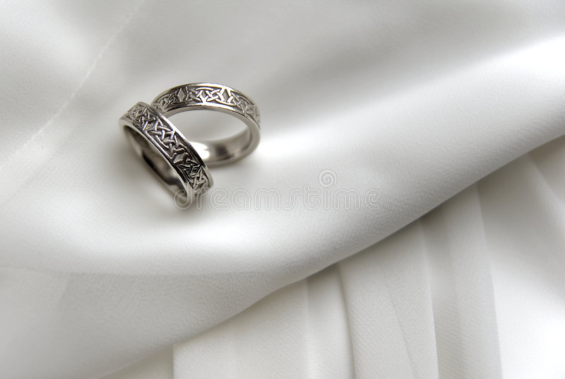 Wedding bands 1 royalty free stock photo