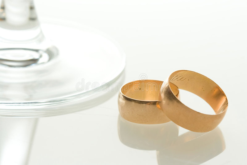 Wedding bands toast stock photography